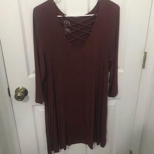 Casual 3/4 Sleeve Dress